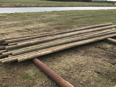 16ft treated fence rails